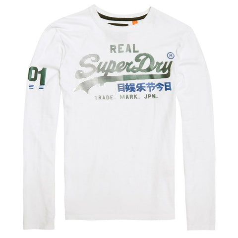 Superdry Vintage Logo 1st Duo L/S T-Shirt in Optic T-Shirts Superdry