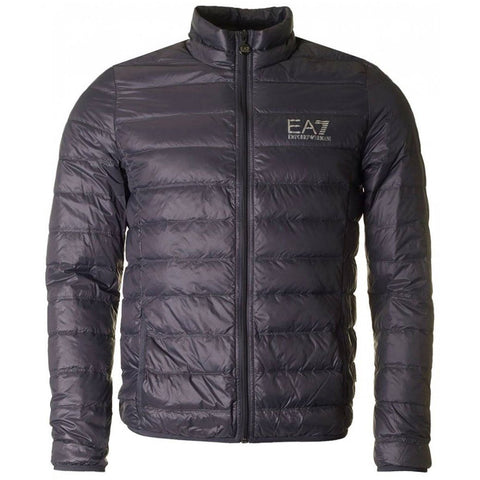 EA7 Emporio Armani Down Collar Jacket in Anthracite Grey Coats & Jackets Emporio Armani EA7