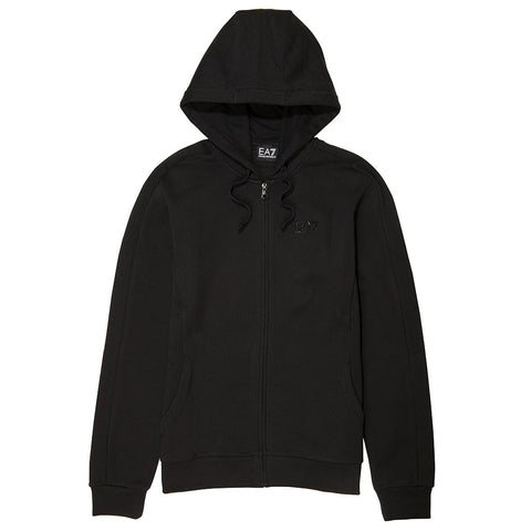 Emporio Armani EA7 Full Zip Hooded Sweatshirt in Black Hoodies Emporio Armani EA7