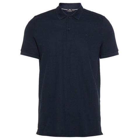J. Lindeberg Troy Clean Pique Polo Shirt in JL Navy Polo Shirts J. Lindeberg