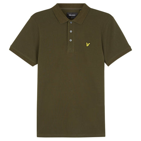 Lyle & Scott Plain Polo Shirt in Dark Sage Polo Shirts Lyle & Scott