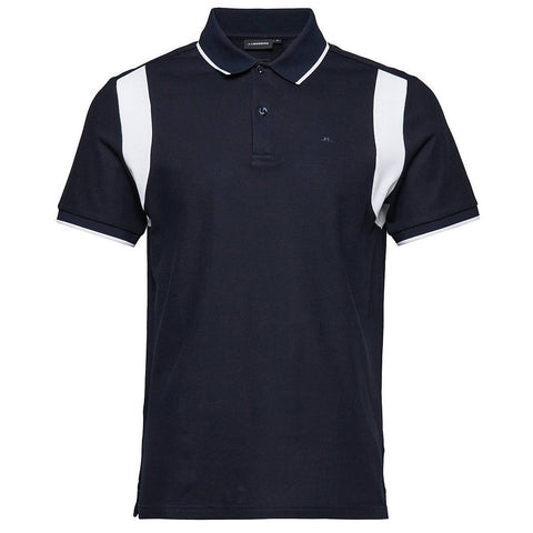 J. Lindeberg Cleeve Clean pique Polo Shirt in Navy Polo Shirts J. Lindeberg