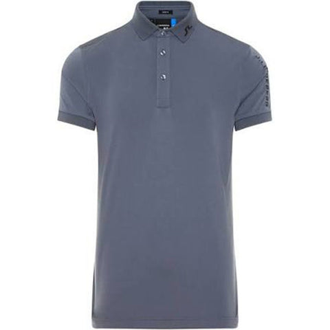 J. Lindeberg M Tour Tech Slim Fit TX Jersey Polo in Dark Grey Polo Shirts J. Lindeberg
