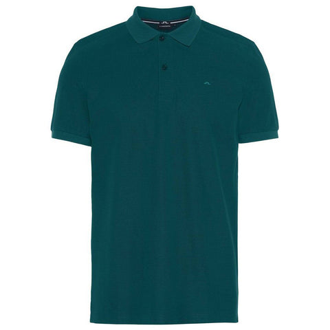 J. Lindeberg Troy Clean Pique Polo in Ivy Green Polo Shirts J. Lindeberg