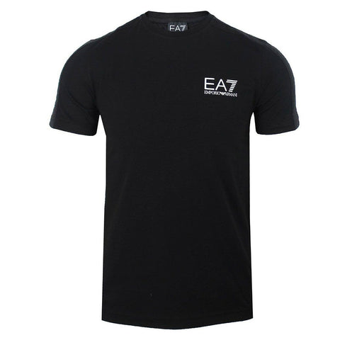 EA7 Emporio Armani Tapered Sleeve T-Shirt in Black T-Shirts Emporio Armani EA7
