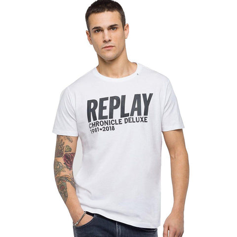 Replay Chronicle Deluxe T-Shirt in White T-Shirts Replay