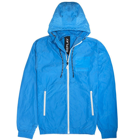 Replay Patch Jacket in Blue Coats & Jackets Replay