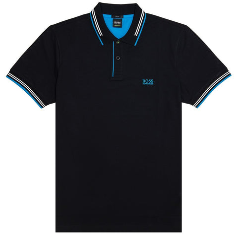 BOSS Athleisure Paul Polo Shirt in Black Polo Shirts BOSS