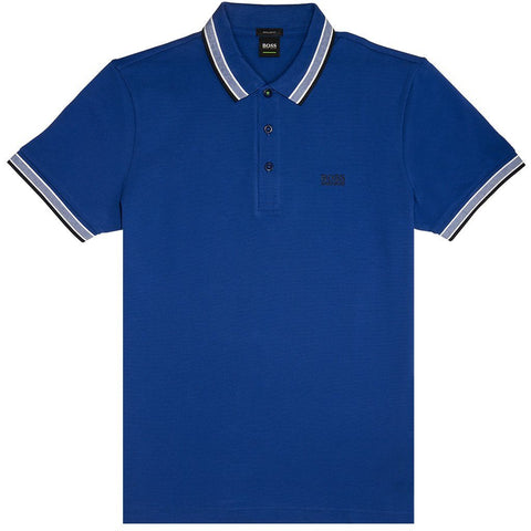 BOSS Athleisure Paddy Polo Shirt in Blue Polo Shirts BOSS