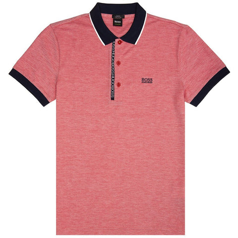 BOSS Athleisure Paule 4 Polo Shirt in Red Polo Shirts BOSS