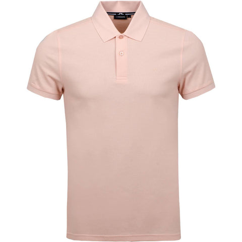 J. Lindeberg Troy Clean Pique Polo in Summer Beige Polo Shirts J. Lindeberg