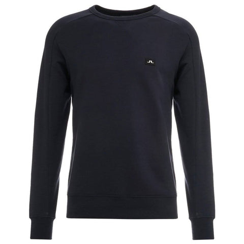 J. Lindeberg Throw C-Neck Ring Loop Sweatshirt in JL Navy sweatshirt J. Lindeberg