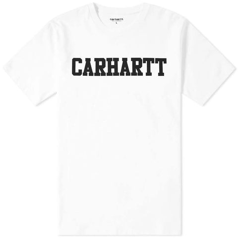 Carhartt S/S College T-Shirt in White/ Black T-Shirts Carhartt