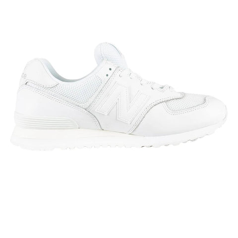 New Balance 574 Leather Trainers in White Trainers Edwards Menswear