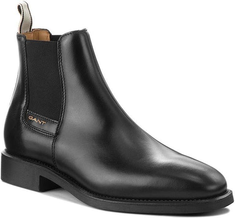Gant James Leather Chelsea Boots in Black Shoes Gant