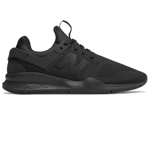 New Balance 247 Core Trainers in Black Trainers Edwards Menswear