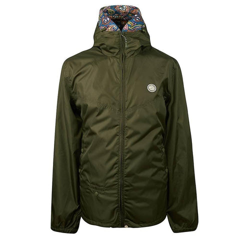Pretty Green Lightweight Zip up Hooded Jacket in Khaki Coats & Jackets Pretty Green