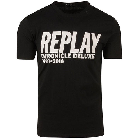 Replay Chronicle Deluxe T-Shirt in Black T-Shirts Replay