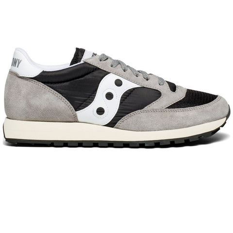 Men's Saucony Original Vintage Trainer in Grey/ Black/ White Trainers Saucony