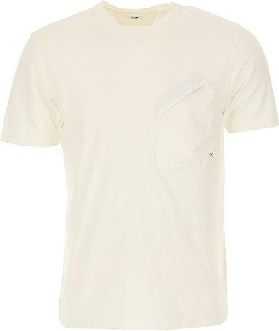 Malfile Jersey Pocket T-Shirt in White T-Shirts CP Company
