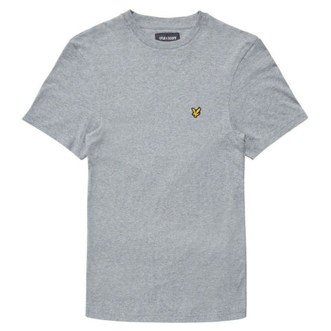 Crew Neck T-Shirt in Mid Grey Marl T-Shirts Lyle & Scott
