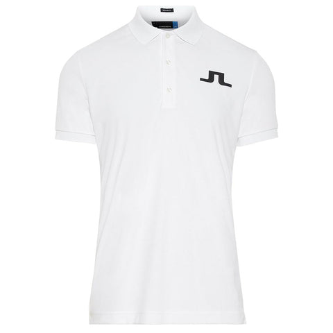 J. Lindeberg M Big Bridge Reg Fit TX Jersey Polo Shirt in White Polo Shirts J. Lindeberg