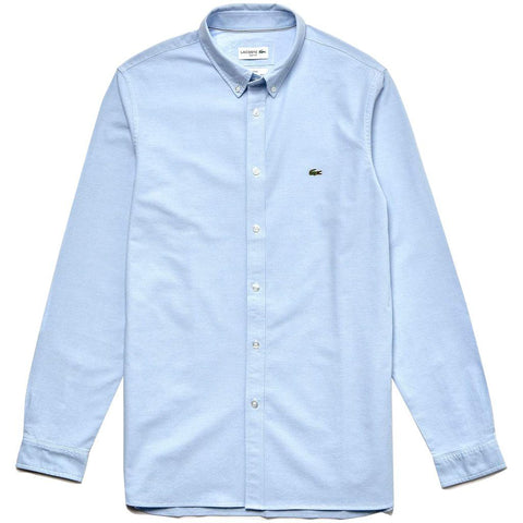Lacoste CH0763-G5J Slim Fit Stretch Cotton Oxford Shirt in Light Blue Shirts Lacoste
