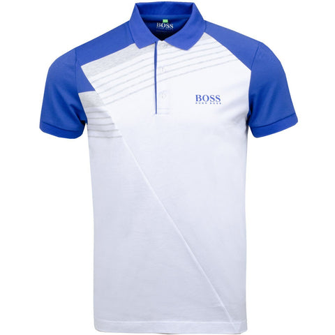 Athleisure Paddy Pro 1 Regular Fit Polo Shirt in White Polo Shirts BOSS