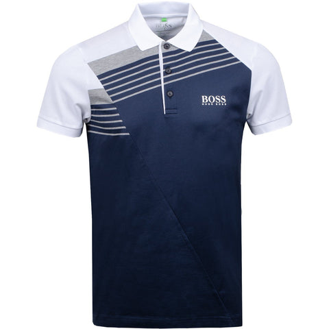 Athleisure Paddy Pro 1 Regular Fit Polo in Navy Polo Shirts BOSS