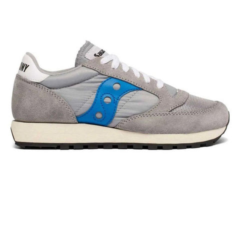 Saucony Jazz Original Vintage Trainer in Grey/ Blue Trainers Saucony