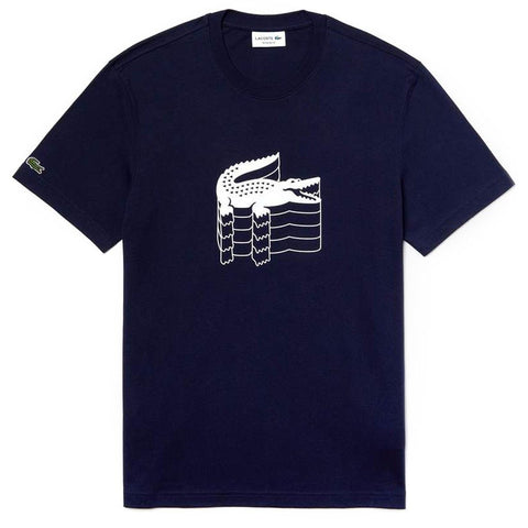 TH4235-166 Crew Neck T-Shirt in Navy Blue T-Shirts Lacoste