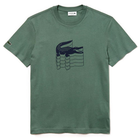 Th4235-307 Crew Neck T-Shirt in Green T-Shirts Lacoste