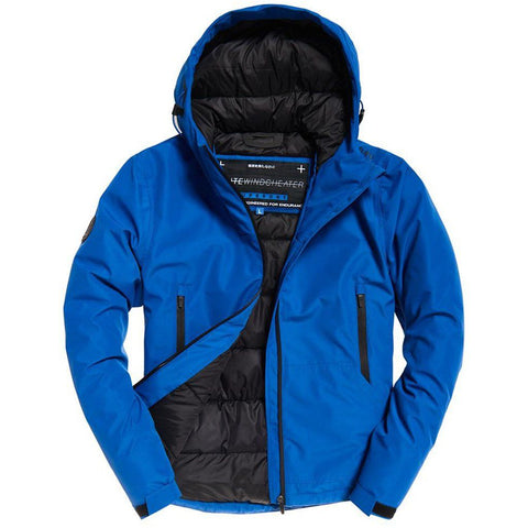 Superdry Padded Elite Windcheater in Electric Blue Coats & Jackets Superdry