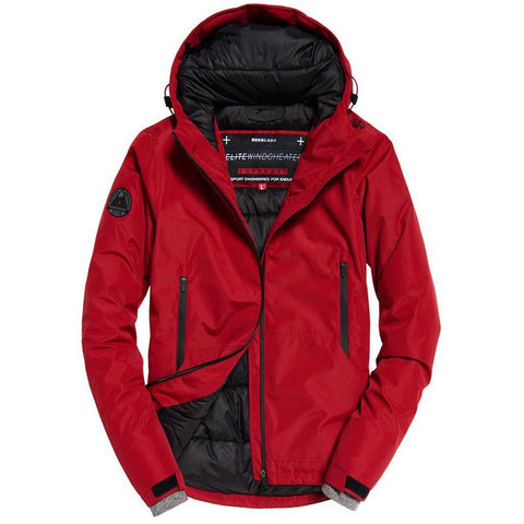 Superdry Padded Elite Windcheater Jacket in Paprika Red Coats & Jackets Superdry