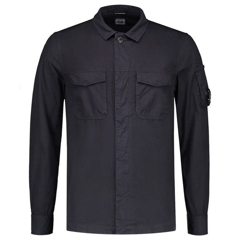 Gabardine Overshirt in Total Eclipse Coats & Jackets CP Company
