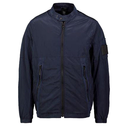 Replay Metallic Soft Shell Jacket in Navy Coats & Jackets Replay