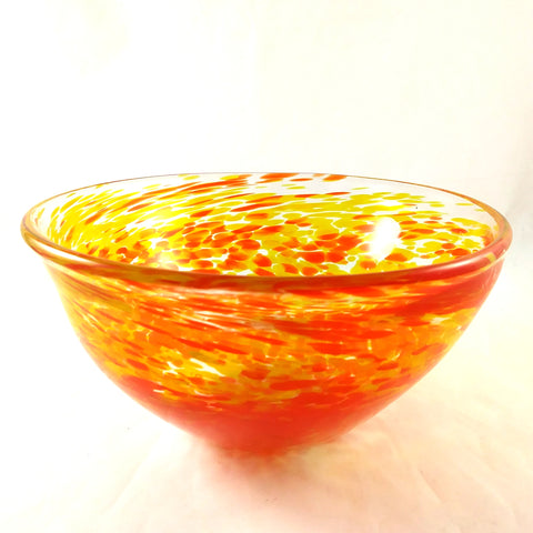 Handmade Art Glass Bowl, Orange and Yellow, Mother's Day Gift