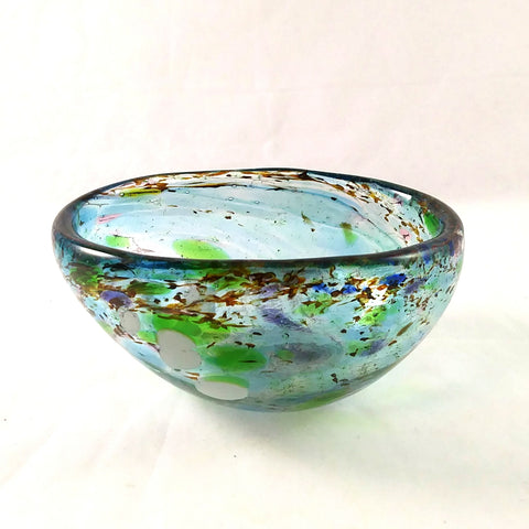 Handmade Glass Soap Dish, Multiple Colors