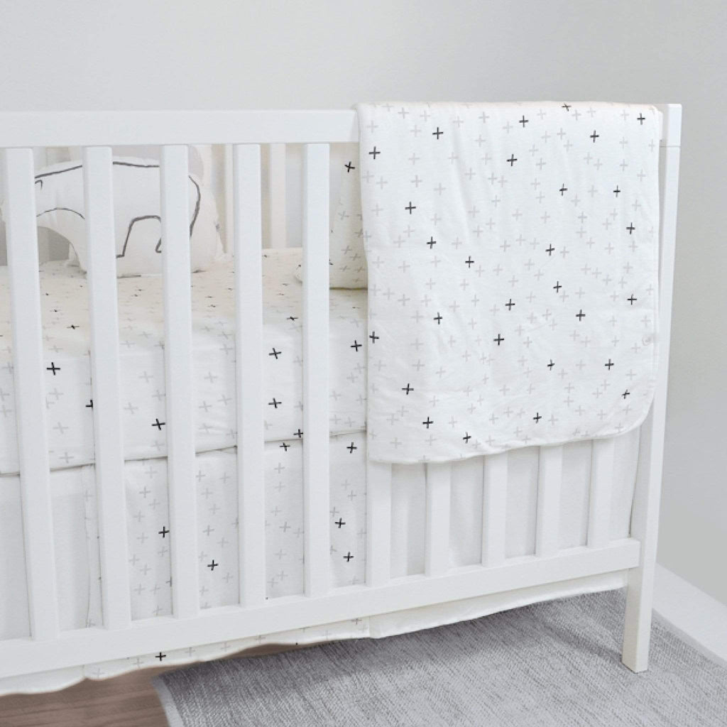 Bamboo crib set - plus print