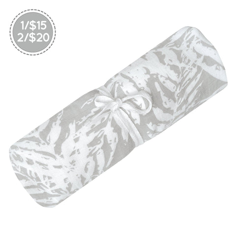 Cotton muslin swaddle - foliage