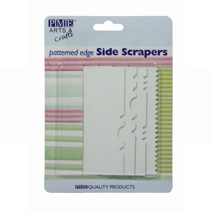PME Patterned Edge Plastic Side Scrapers - Set of 4