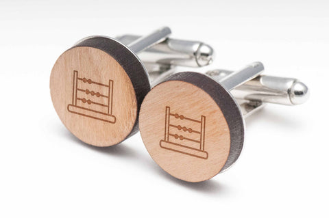 Abacus Wood Cufflinks