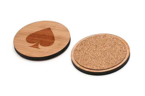 Ace Of Spades Wooden Coasters Set of 4
