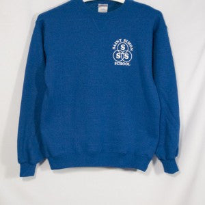 ST. SIMON HEAVYWEIGHT CREW SWEATSHIRT WITH SILKSCREENED LOGO