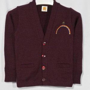 RAINBOW MONTESSORI CLASSIC V-NECK CARDIGAN WITH EMBROIDERED LOGO