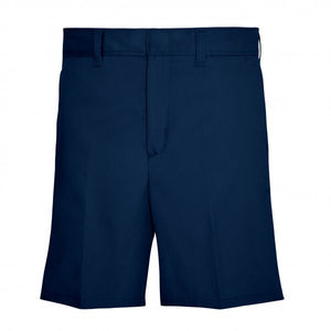 GIRLS NAVY ADJUSTABLE WAIST PLAIN FRONT SHORT
