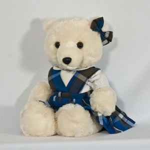 "18"" DOLL V FRONT JUMPER WITH BOW (BEAR NOT INCLUDED)"