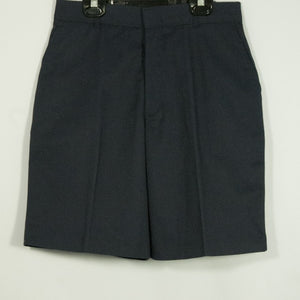 BOYS NAVY PLEATED FRONT ELASTIC BACK SHORT