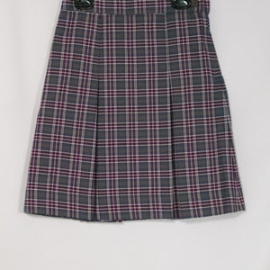 SACRED HEART SCHOOLS PLAID 2-KICK PLEAT SKIRT FRONT & BACK
