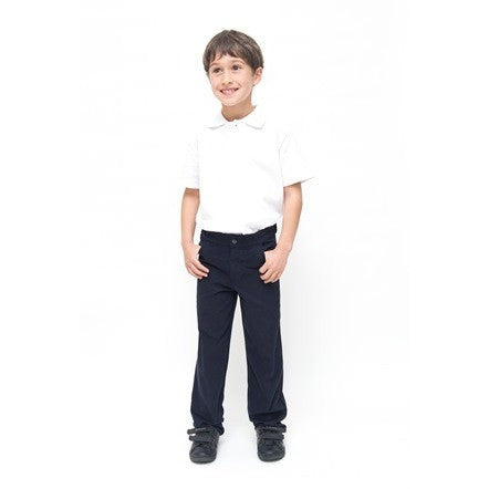 Boys Slim Fit Pure Cotton School Trousers